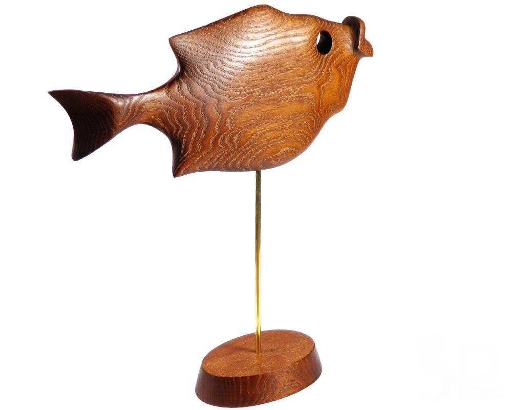 Exclusive Abstract Wooden Hand Carved Sculpture Quot Fish