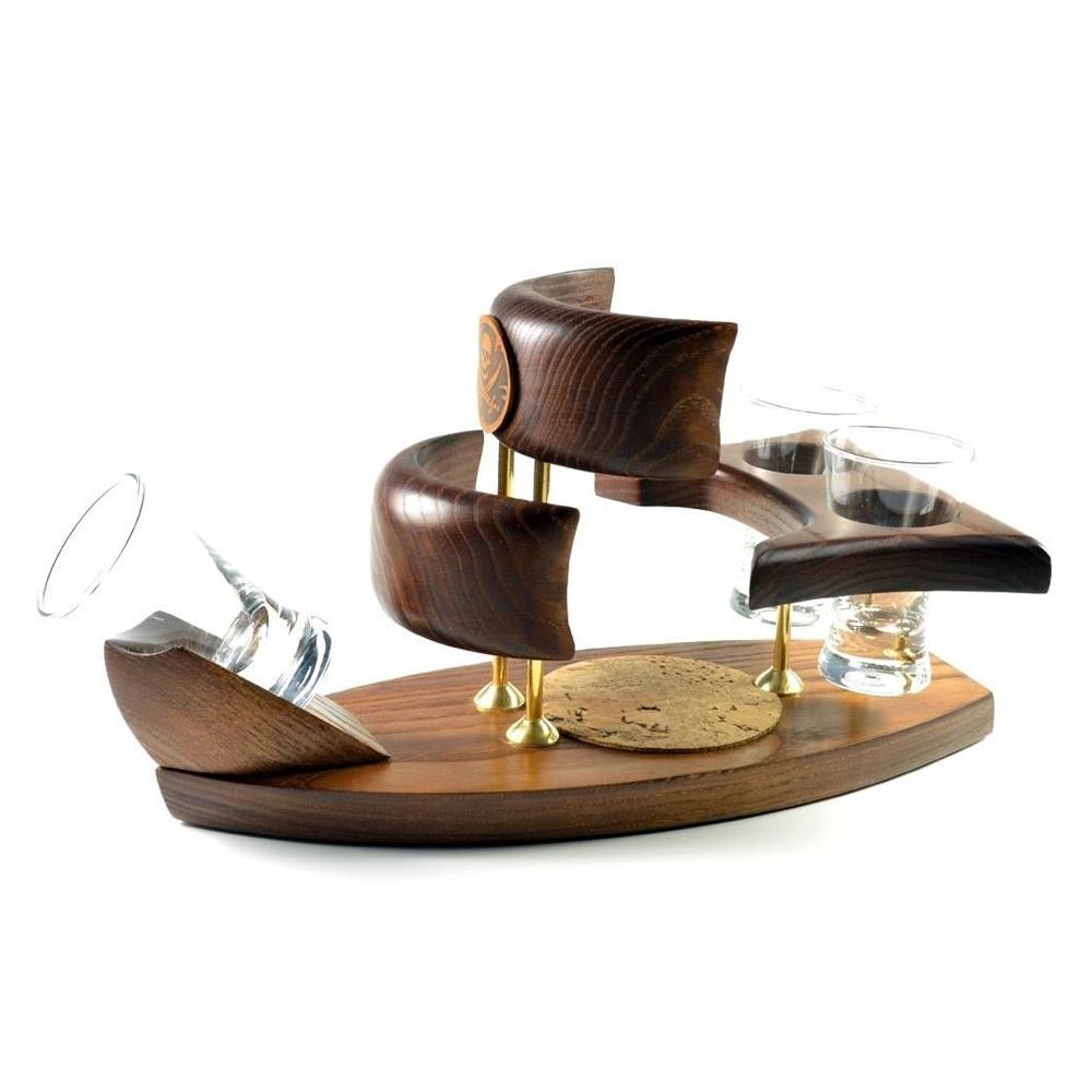 Wooden Mini Bar Drink Set U201cPirateu201d. Best HANDMADE Accessories For Home /  Office